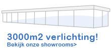 Showroom met 3000 vierkante meter verlichting